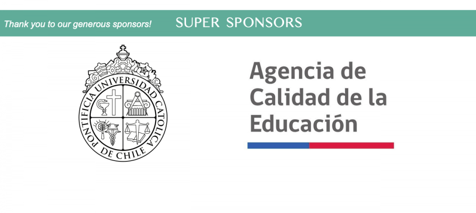 Super Sponsors logos - Universidad Catolica Pontificia de Chile and Agencia de Calidad de la Educación